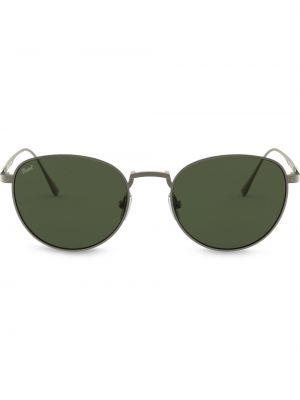 Солнцезащитные очки круглые металлические хаки Persol