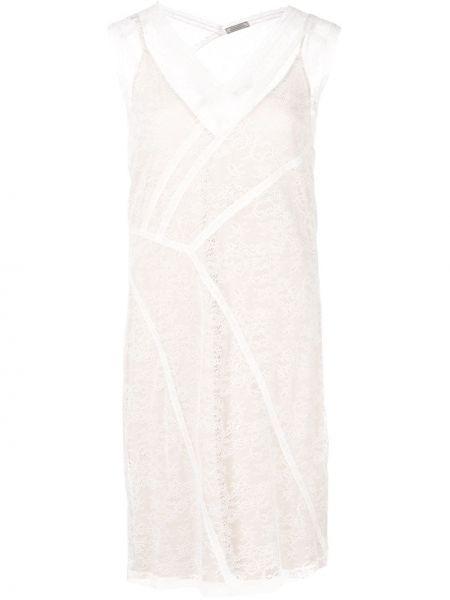 Платье со вставками с V-образным вырезом Nina Ricci