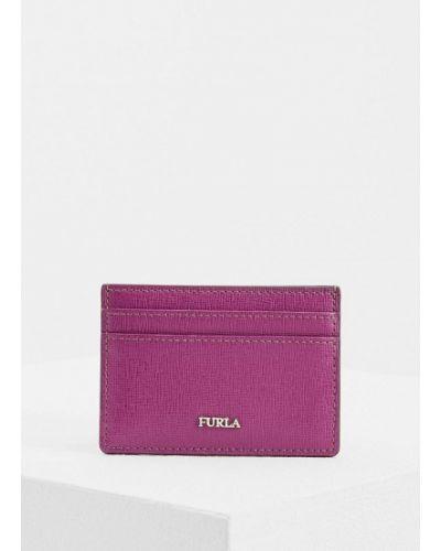 Фиолетовая визитница Furla