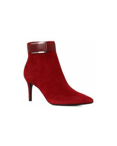 Ботильоны красный Calvin Klein