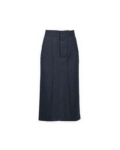 Шерстяная юбка миди - серая Isabel Marant