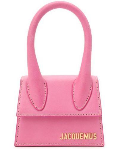 Розовый кожаный топ Jacquemus