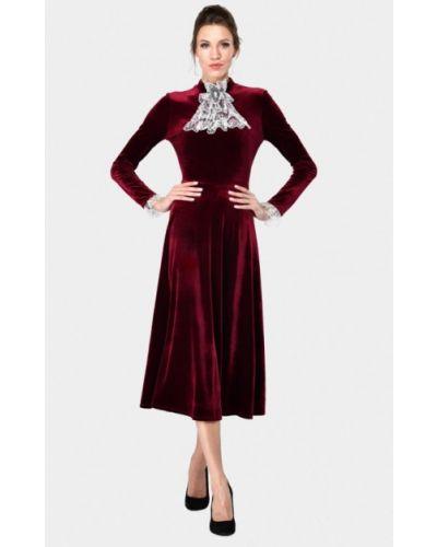 Вечернее платье бордовый красный Alisia Fiori