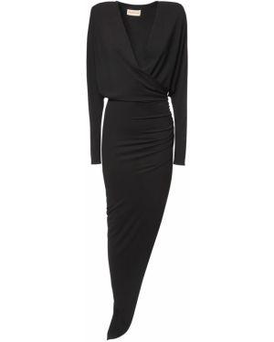 Czarna sukienka asymetryczna Alexandre Vauthier