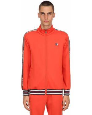 Pomarańczowa kurtka w paski Fila Urban