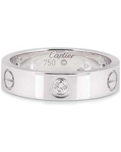 Серебряное кольцо с бриллиантом Cartier