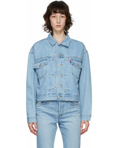 Джинсовая куртка длинная - синяя Levi's®