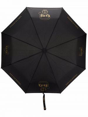 Зонт с принтом - черный Karl Lagerfeld