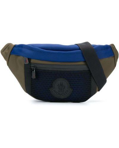 Поясная сумка на молнии синий Moncler