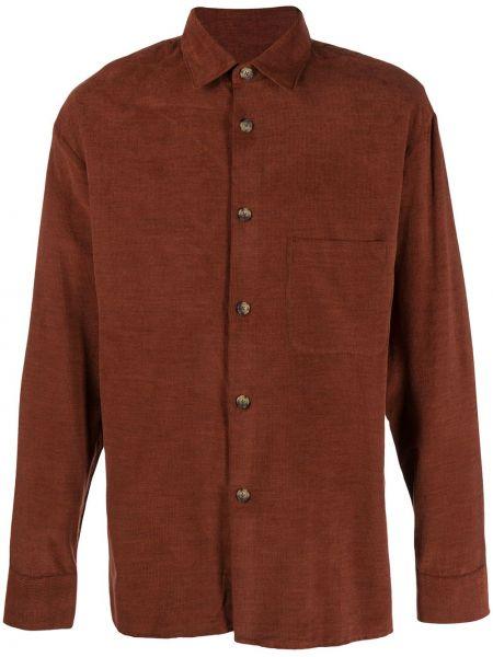 Прямая рубашка с воротником вельветовая с карманами A Kind Of Guise