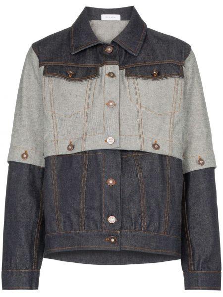 Классическая синяя джинсовая куртка с манжетами на пуговицах Delada
