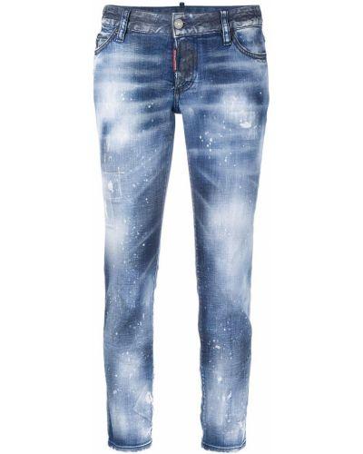 Хлопковые синие прямые джинсы Dsquared2