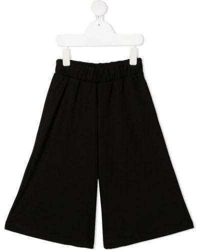 Свободные черные брюки с поясом Mariuccia Milano Kids