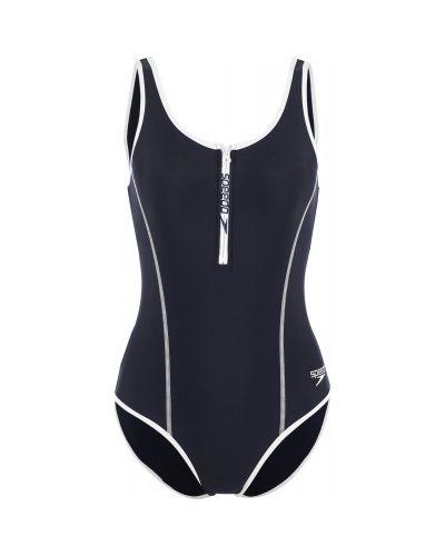 Синий спортивный купальник со вставками Speedo