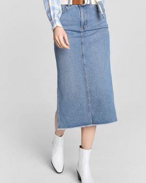 Юбка миди джинсовая с завышенной талией Ostin