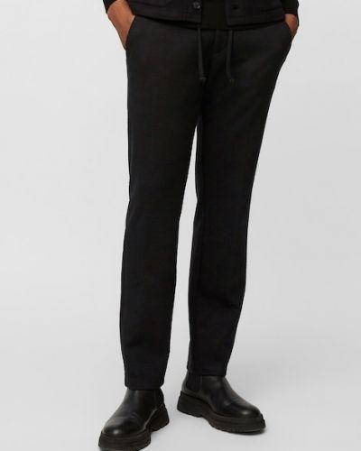 Czarne spodnie bawełniane Marc O Polo