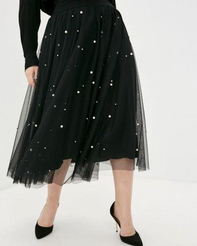 Черная юбка свободного кроя Sophia