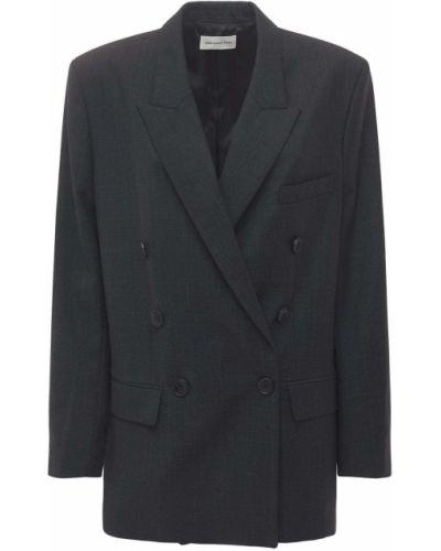 Темно-серый шерстяной пиджак с карманами Isabel Marant étoile