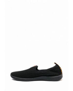 Текстильные черные слипоны Кредо