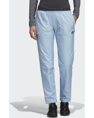 Флисовые брюки - синие Adidas