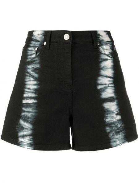 Джинсовые шорты с завышенной талией черные Msgm
