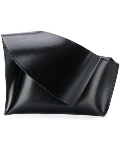 Черная кожаная сумка Venczel