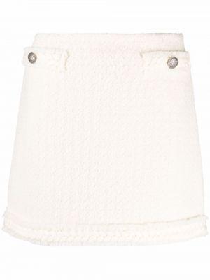Шерстяная юбка мини - белая Blumarine