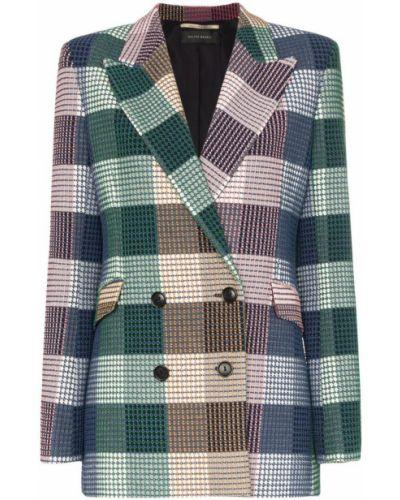 Синий удлиненный пиджак Roland Mouret