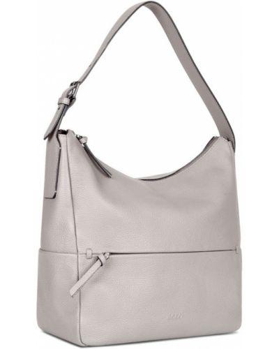 Кожаная сумка серая из лисы Ecco