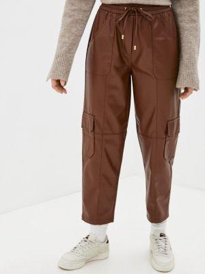 Кожаные брюки - коричневые Rich&royal