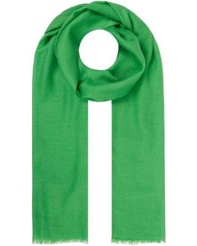 Zielona szal wełniana Fraas