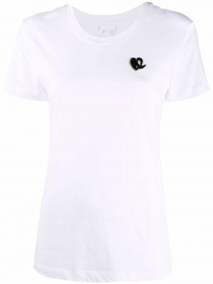 Белая футболка с короткими рукавами Lala Berlin