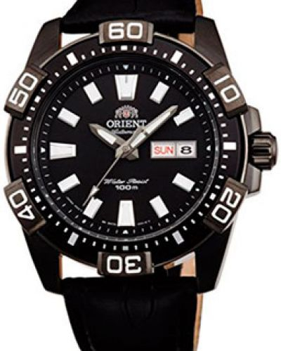 Часы с кожаным ремешком водонепроницаемые механические спортивные Orient