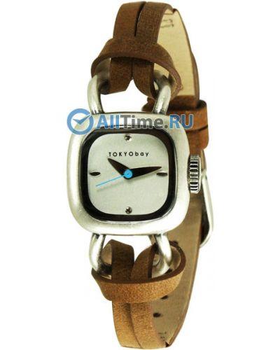 Часы на кожаном ремешке кварцевые серебряный Tokyobay