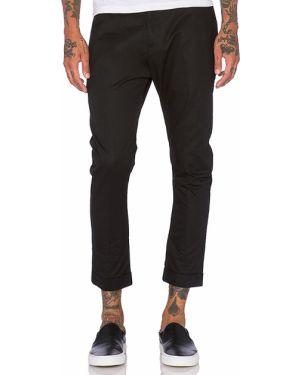 Czarne spodnie bawełniane vintage Zanerobe