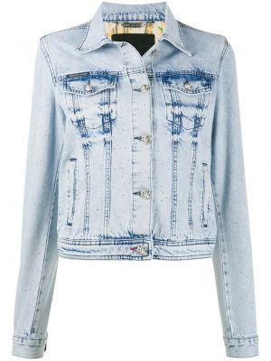 Классическая синяя джинсовая куртка с воротником с карманами Philipp Plein
