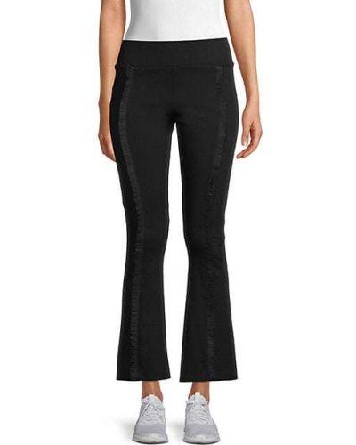 Шелковые черные укороченные брюки стрейч Terez
