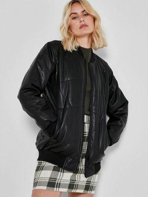Кожаная куртка - черная Noisy May