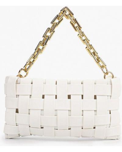 Белая кожаная сумка с ручками Izabella