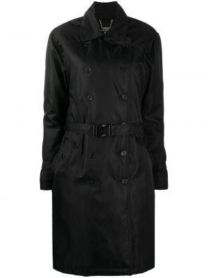 Klasyczny czarny płaszcz skórzany John Richmond