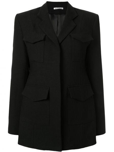 Черный пиджак с карманами с лацканами Georgia Alice
