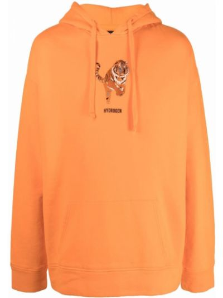 Pomarańczowa bluza z nadrukiem z printem Hydrogen