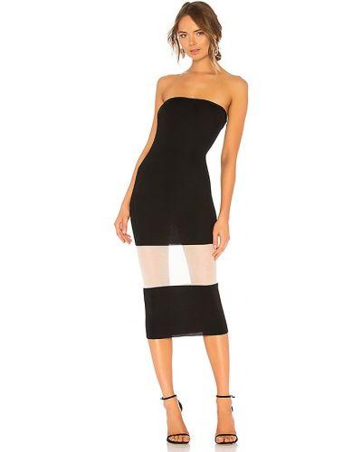 Czarna sukienka midi Nbd