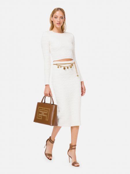 Костюмный белый костюм на молнии Elisabetta Franchi