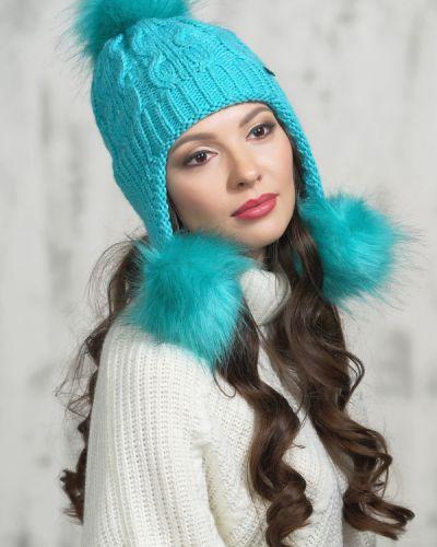 Голубая шапка шерстяная Vay