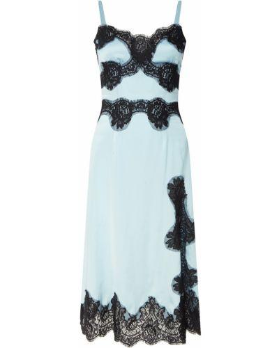 Платье миди с высоким разрезом платье-комбинация Dolce&gabbana