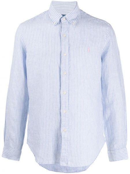 Koszula z długim rękawem długa z paskami Ralph Lauren