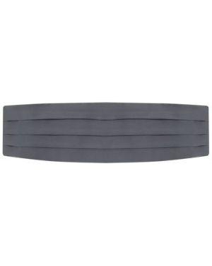 Облегающий мягкий черный шелковый камербанд Brioni