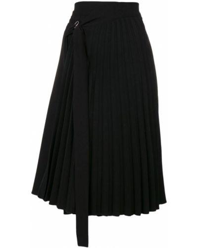 Черная юбка миди в рубчик Ioana Ciolacu