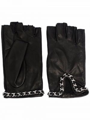 Rękawiczki bez palców - czarne Manokhi